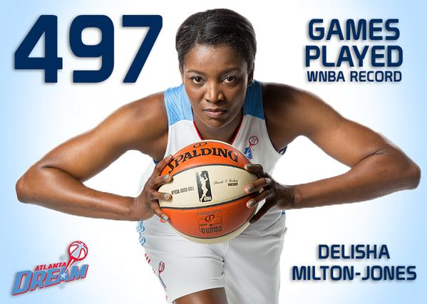 DeLisha Milton-Jones sets WNBA record for career games played, passes Tina Thompson