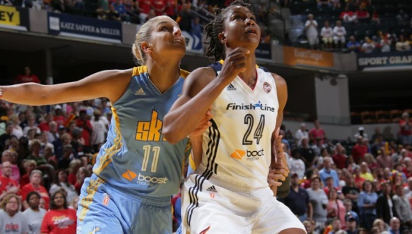 The Chicago Sky and the Indiana Fever meet in game one of the Eastern conference semifinals. Photo: NBAE/Getty Images.