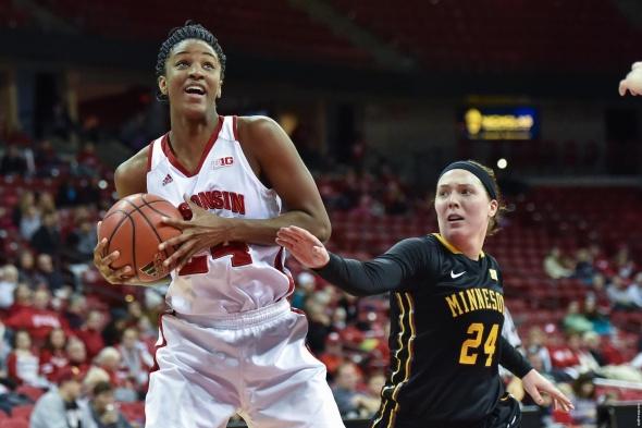 Wisconsin junior forward Malayna Johnson. Photo: Wisconsin Athletics.
