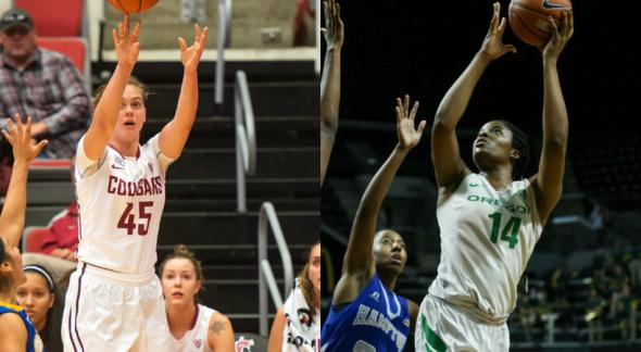 Washington State's and Oregon's Jillian Alleyne.