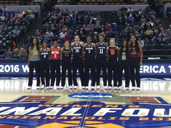 2016 WBCA D! All-Americans. Photo: WBCA.