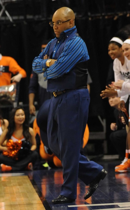 Syracuse coach Quentin Hillsman. Photo: © Lee Michaelson, all rights reserved.