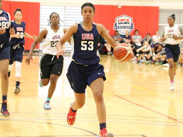 Evina Westbrook. Photo: USA Basketball.