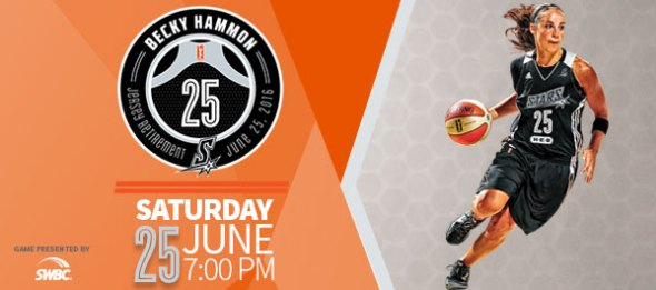 Becky Hammon Jersey Retirement