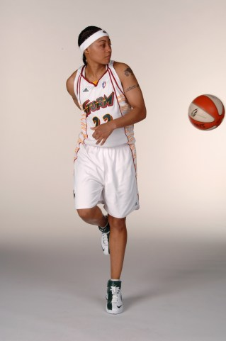 SEATTLE - MAY 14: Betty Lennox #22 of the Seattle Storm poses for a portrait during WNBA Media Day on May 14, 2007 at the Furtado Center in Seattle, Washington. NOTE TO USER: User expressly acknowledges and agrees that, by downloading and/or using this Photograph, user is consenting to the terms and conditions of the Getty Images License Agreement. Mandatory Copyright Notice: Copyright 2007 NBAE (Photo by Terrence Vaccaro/NBAE via Getty Images)