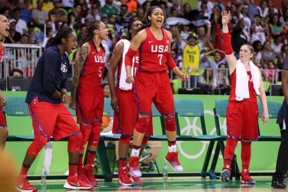 August 12, 2016 - USA vs. Canada. Photo: FIBA.