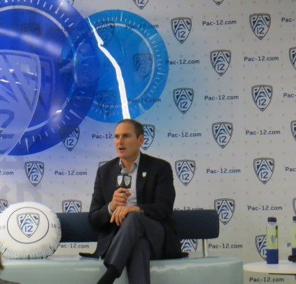 October 20, 2016 - Pac-12 Commissioner Larry Scott at the conference's women's basketball media day.