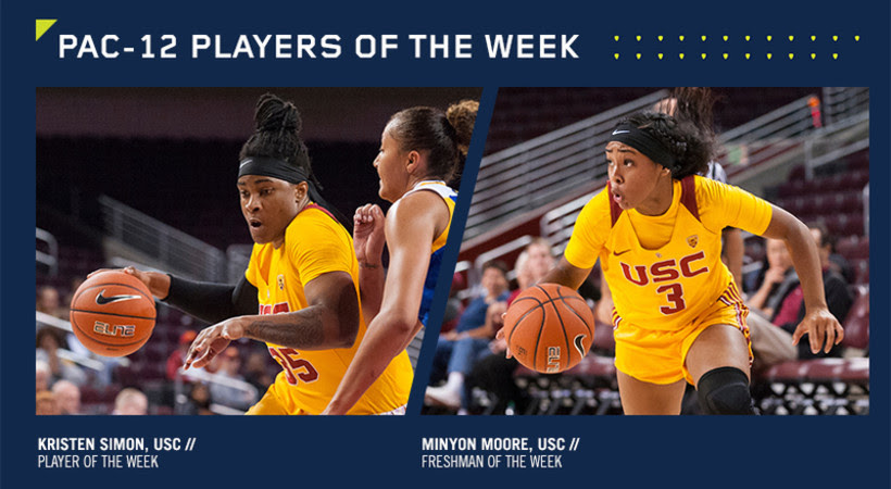 Southern California sweeps Pac-12 Player of the Week Awards