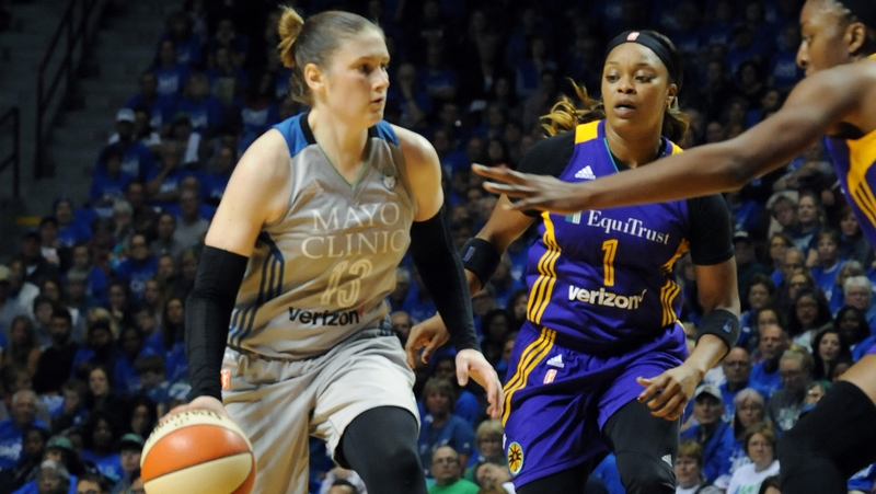 Led by Whalen, Lynx recover to douse Sparks 70-68 in Finals game two and even the series