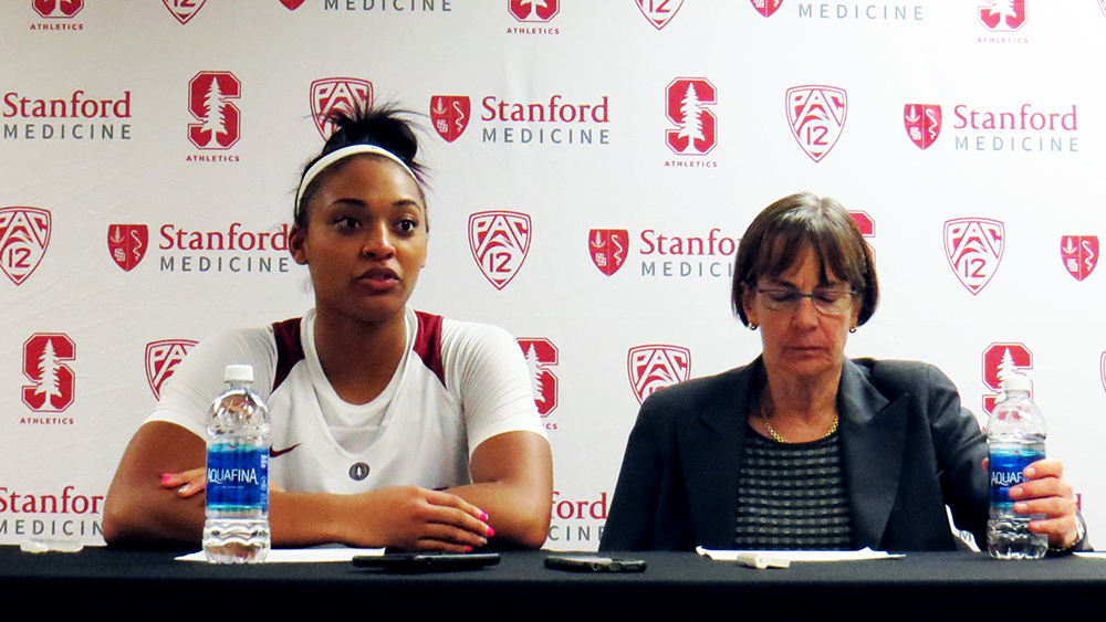 Led by DiJonai Carrington, Stanford bounces back from 0-2 start with 53-43 win over UC Riverside
