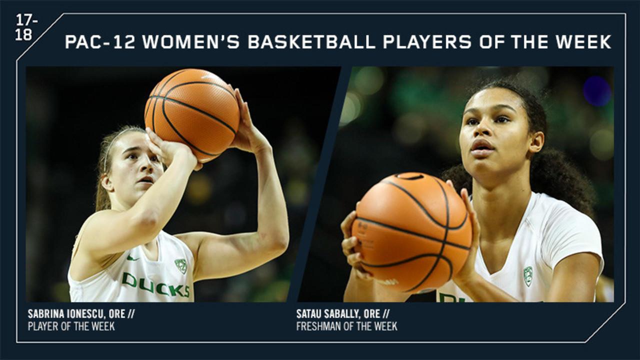 Oregon sweeps Player of the Week awards, Sabrina Ionescu and Satou Sabally earn honors