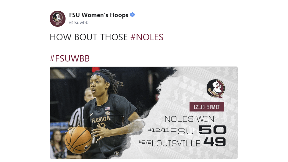 Sport Tours International/Hoopfeed NCAA DI Top 25 Poll for Jan. 23, 2018: FSU moves up to No. 7, TCU enters at No. 24