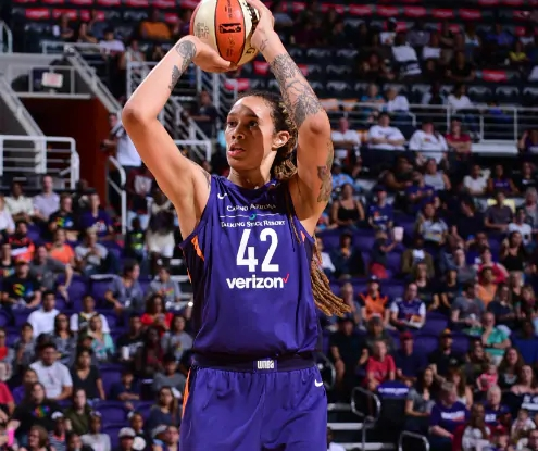 WASHINGTON, D.C. (June 30, 2018) - Brittney Griner led Phoenix vs. the Washington. Photo: NBAE/Getty Images