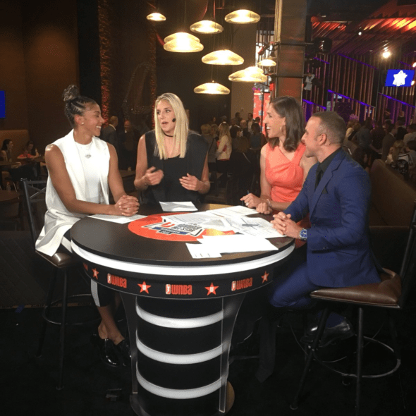 Candace Parker and Elena Delle Donne discuss their team selections with ESPN. Photo: WNBA Twitter.