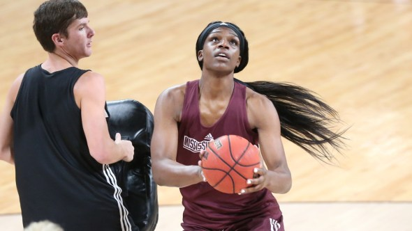 Teaira McCowan, the SEC Preseason Player of the Year. Image: Mississippi State Athletics.