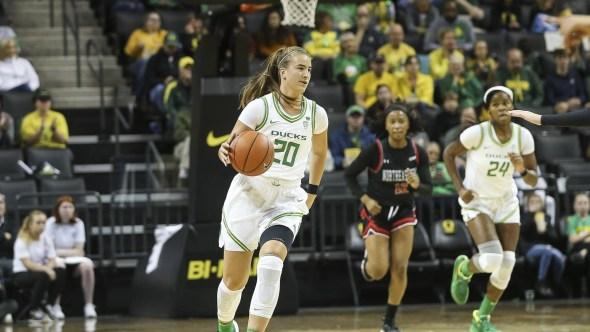 Oregon's Sabrina Ionescu. Photo: Oregon Athletics.