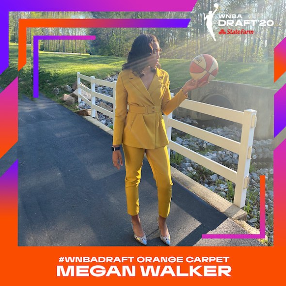 Megan Walker Virtual Draft Photo, courtesy WNBA.