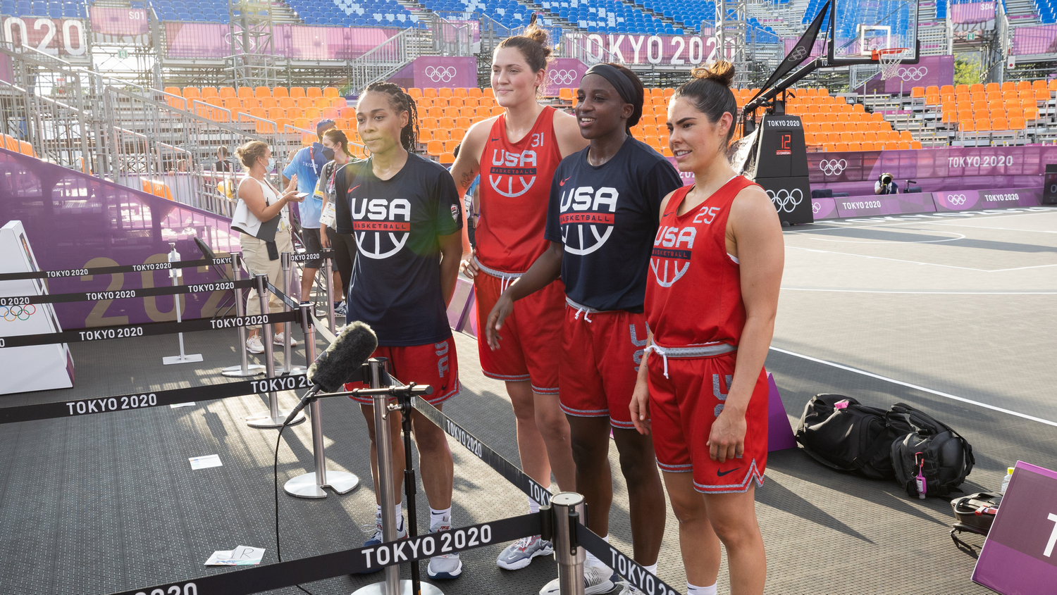 USA and Russia begin 3×3 play 2-0, Jill Biden and Macron attend