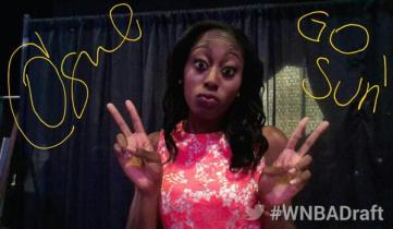 Chiney Ogwumike during the 2014 WNBA draft.