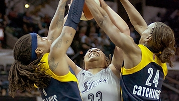 Defending champion Indiana Fever take first game of the season with 79-64 victory over San Antonio