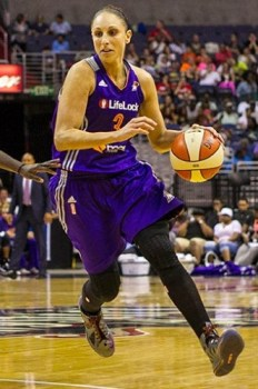 WASHINGTON, D.C. (June 27, 2013) - Diana Taurasi. Phoenix beats Washington, 101-97 at the Verizon Center. Photo © Mark W. Sutton, all rights reserved.
