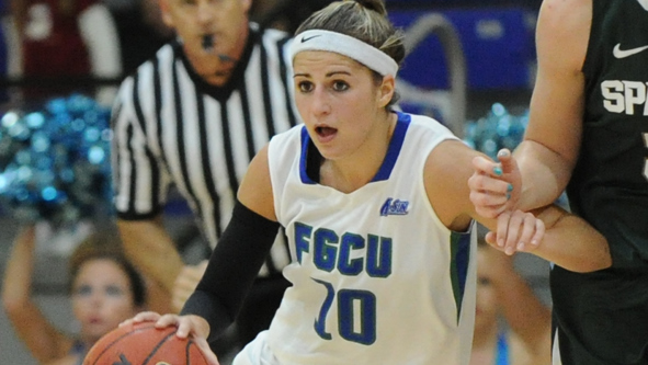 Florida Gulf Coast ties NCAA record for three-pointers in a single game, senior Kelsey Jacobson reaches 1K