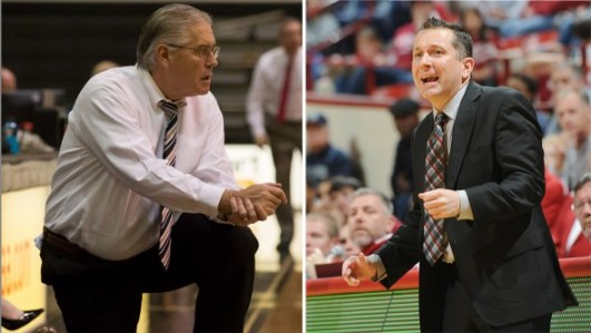 Army coach Dave Margirity, Indiana's Curt Miller (Photos: and Indiana Athletics).