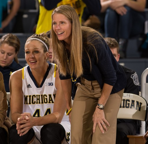 Michigan head coach Kim Barnes Arico. Photo: Michigan Athletics.
