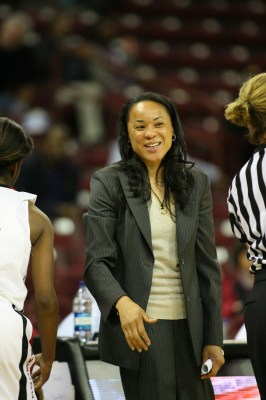 South Carolina head coach Dawn Staley (Photo by Travis Bell/SIDELINE CAROLINA)