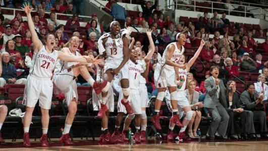 PALO ALTO, Calif. (January 27, 2014) - #4 Stanford beats USC, 86-59. Photo: Stanford Athletics.
