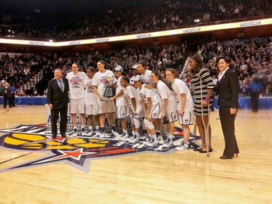 No. 1 Connecticut won the inaugural American Athletic Conference Tournament. Photo: Connecticut Athletics.