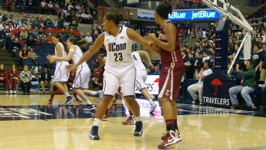 UConn's Kaleena Mosqueda-Lewis will face the challenge of Notre Dame for the second season.