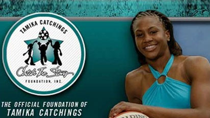 Tamika Catchingswinner of inauguaral ESPNSports Humanitarian of the Year Awards