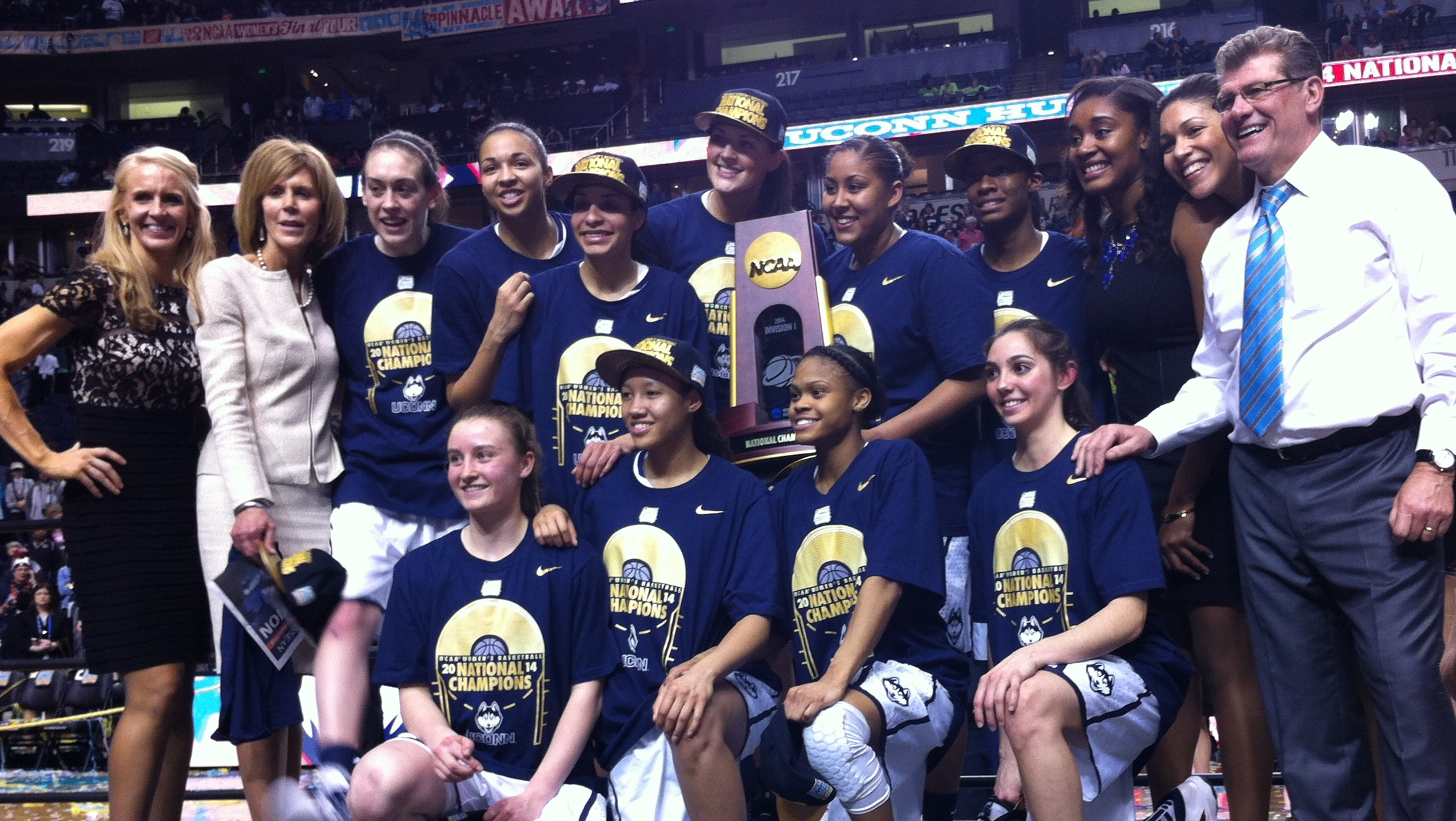 No more pursuit, perfection achieved. UConn defeats Notre Dame 79-58 in championship to finish 40-0