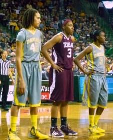 L to R: Brittney Griner, Kelsey Bone and Jordan Madden.