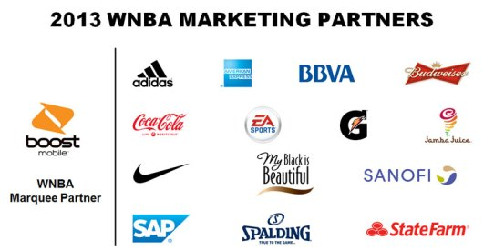 WNBA 2013 Marketing and Media Partners