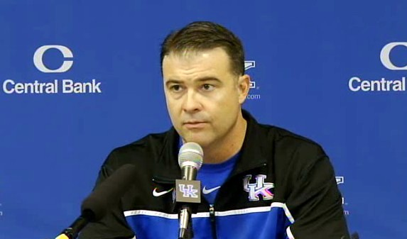 Kentucky coach Matthew Mitchell talks about facing top-ranked Baylor on Tuesday, November, 13, 2012 in Waco, Texas.
