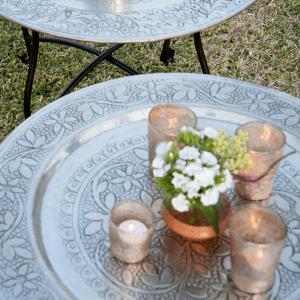 Moroccan Metal Tray Tables