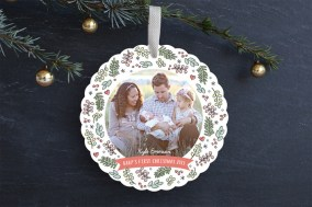 Sweet Baby Wreath Ornament Card