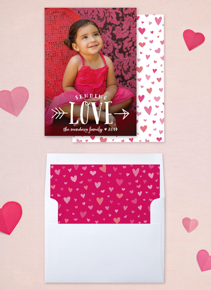 Sending Love Valentines Photo Card