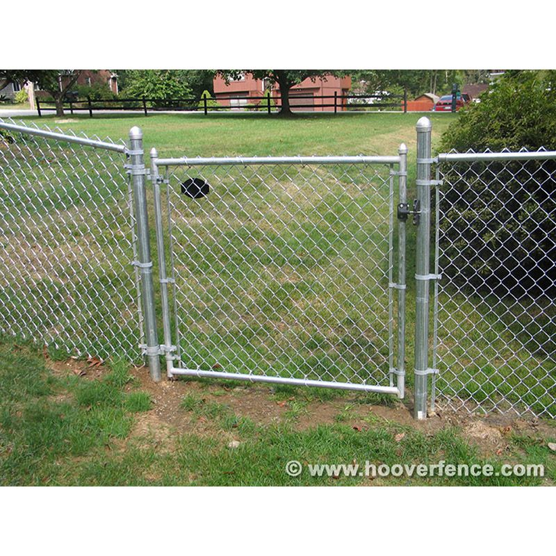 residential chain link fence single swing gates 1 3 8 galvanized frame
