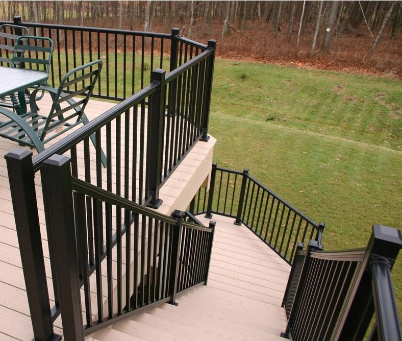 Deck Railing Hoover Fence Co   Commercial Handrails And Railings   Metal   Wood   Guardrail   Pipe Railing   Stainless Steel Railing