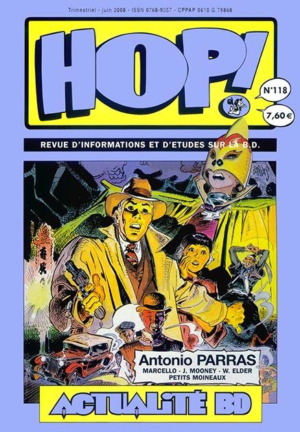 Couverture Hop ! N°118 spécial Antonio Parras - hop-bd.fr