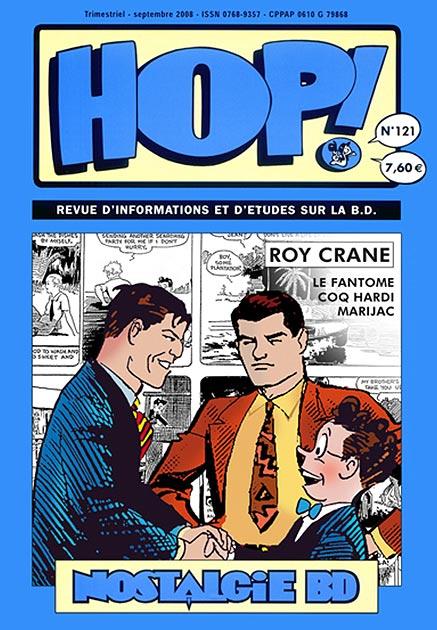 Couverture Hop ! N°121 spécial Roy Crane - hop-bd.fr