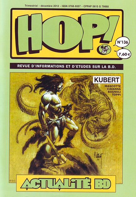 Couverture Hop ! N°136 spécial Kubert - hop-bd.fr