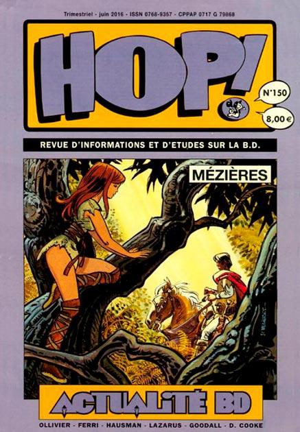 Couverture Hop ! N°150 spécial Jean-Claude Mézières - hop-bd.fr