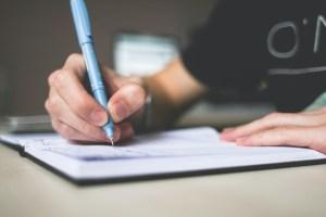 schreib einem lieben menschen einen brief