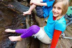 Paige in creek