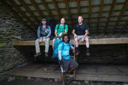 The guys in the LeConte shelter