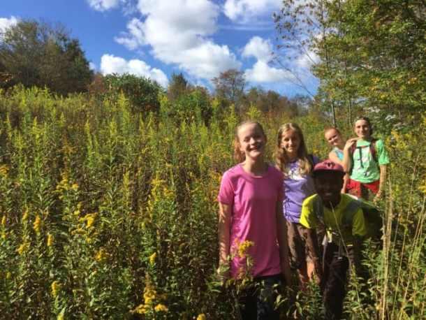 Kids in meadow